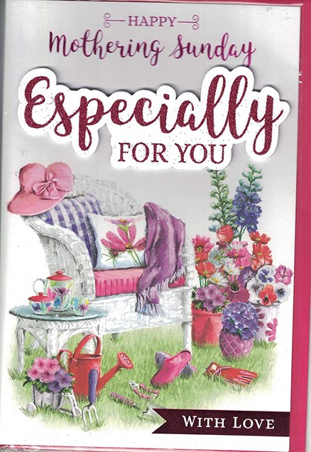 Mother's Day Card - Garden Scene With A 3D Embellishment