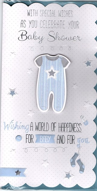 Baby Shower Card Baby Boy or Girl  For The Mum To Be - Baby Growth