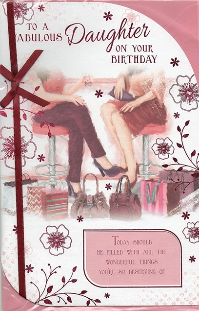 Birthday Daughter Card - Cafe & Shopping