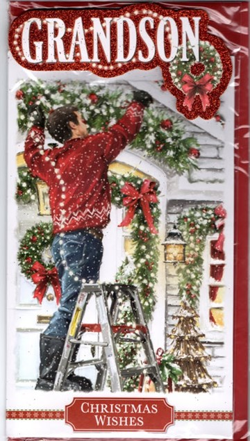 Christmas Grandson Card - Christmas Decorations
