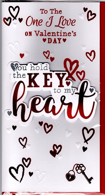 Valentines Day One I Love Card – Key To My Heart