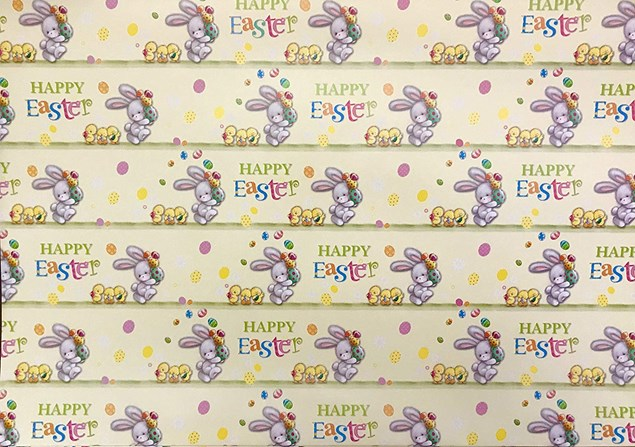Easter Wrapping Paper 2 Sheets - Cute Rabbit And Chicks