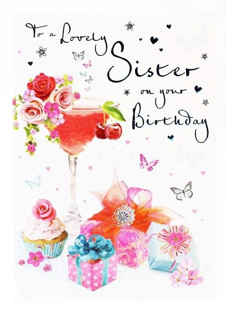 Birthday Sister Card - To A Lovely Sister On Your Birthday