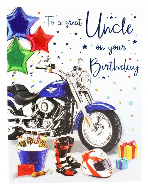 Birthday Uncle Card - To A Great Uncle On Your Birthday