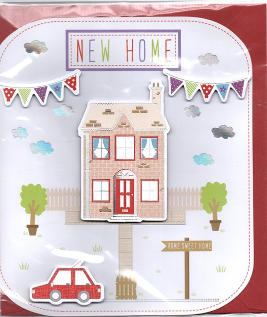 New Home Card - Beautiful Home & Bunting