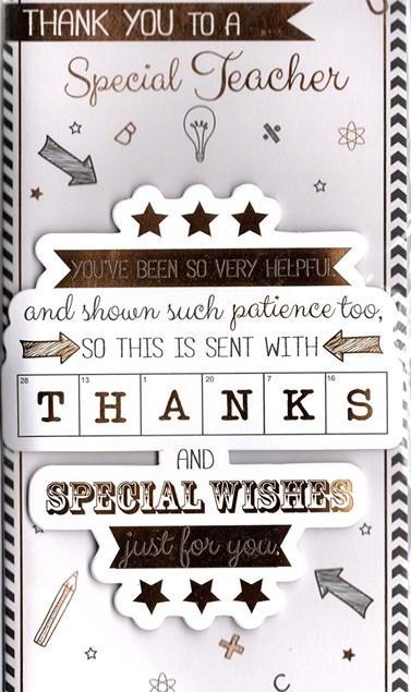 Thank You Teacher Card - Doodles