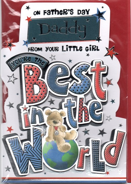 Father's Day Card To a Fantastic Daddy From Your Little Girl
