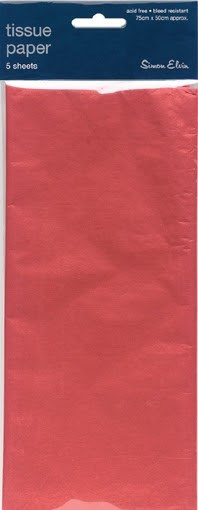 Tissue Paper Red - Pack Of 5 Sheets