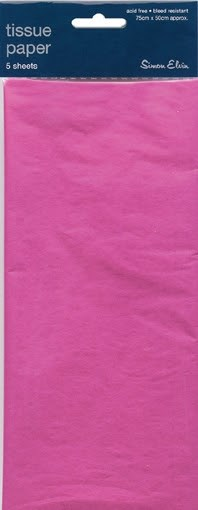 Tissue Paper Magenta - Pack Of 5 Sheets