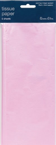 Tissue Paper Pink - Pack Of 5 Sheets