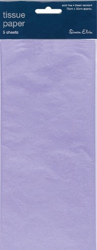 Tissue Paper Lilac - Pack Of 5 Sheets