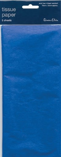 Tissue Paper Dark Blue - Pack Of 5 Sheets
