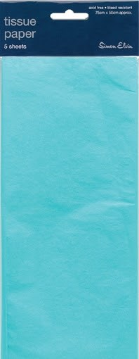 Tissue Paper Light Blue - Pack Of 5 Sheets