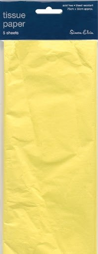 Yellow Tissue Paper Pack Of 5 Sheets
