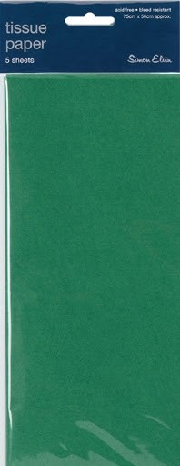 Tissue Paper Green - Pack Of 5 Sheets