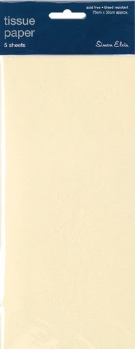 Tissue Paper Ivory - Pack Of 5 Sheets