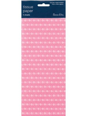 Tissue Paper Pink Polka Dot - Pack Of 5 Sheets