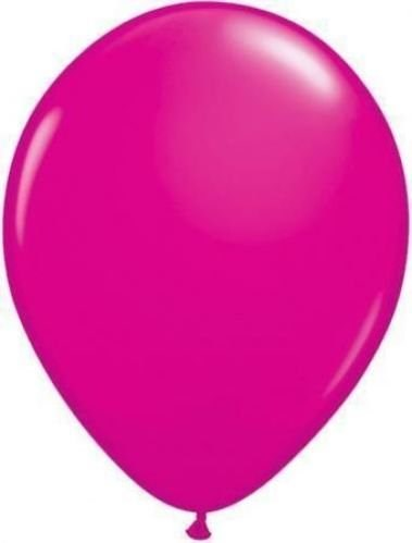 Qualatex Wild Berry Pink Plain Latex Balloons  – Pack of 25