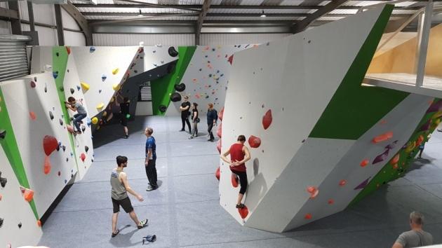 1. Indoor rock climbing at Avid Climbing