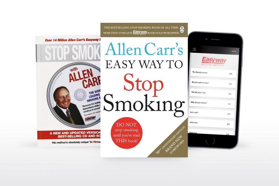 Quit smoking with Allen Carr by book, app or online video