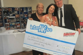 Allen Carr's Easyway presents a cheque to local autism charity, InterAktive