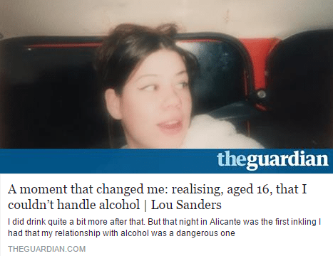 lou sanders quits alcohol with allen carr