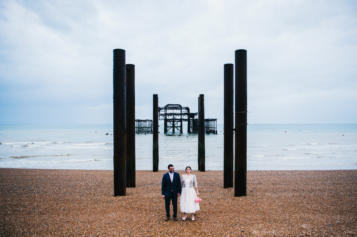 Fun wedding photography, Brighton wedding photographer, Allison Dewey Photography, West Pier