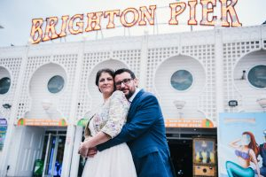 Brighton wedding photography, Fun Brighton wedding, Brighton pier