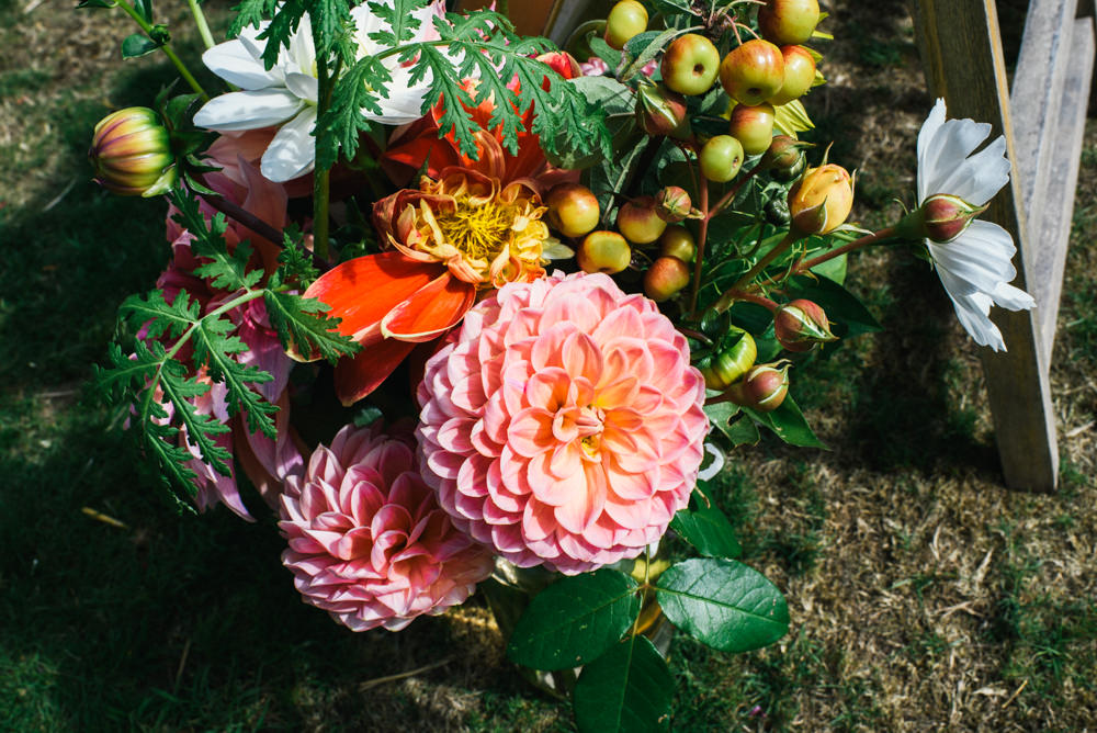 Pennard House Wedding . Fun Wedding Photographer Brighton . Allison Dewey Photography, Common Farm Flowers