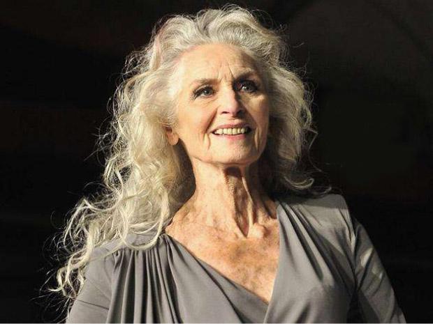 Daphne Selfe,old fashion model,modella anziana