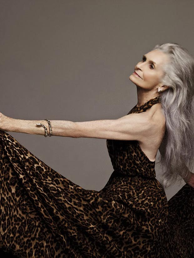 Daphne Selfe,modella matura,modella ottantenne