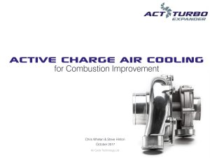 Active Charge Air Cooling - Background & Benefits