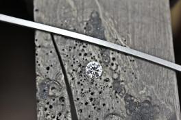 PLATINUM THREE CLAW DIAMOND RING