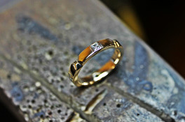 princess cut Diamond gold ring