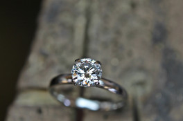 "platinum diamond solitaire  ""v"" detail setting"