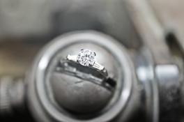 platinum DIAMOND ring & TAPERED  diamond BAGUETTE SHOULDERS