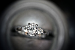 Oval & Pear platinum diamond ring