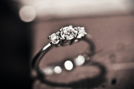 Diamond Three Stone & Platinum