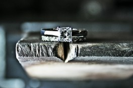 Princess Cut Diamond & 18ct White Gold