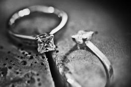 Princess Cut Diamond & 18ct White Gold