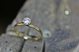 Serene Diamond solitaire 18ct gold