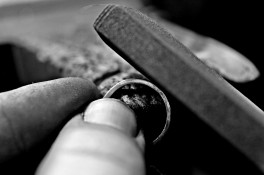 Reworked platinum engagement ring
