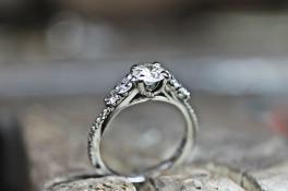 Multi stone re worked diamond & platinum engagment
