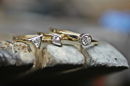 reworked 18ct gold jewellery to create stacker rings
