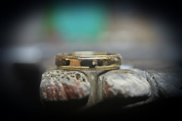 reworked unused rings to make a wedding ring 9ct gold