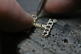 Reworked unused jewellery to create a personalised pendant