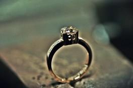 Rose Gold & 1carat Champagne Diamond ring