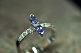 Marquise Tanzanite & Diamonds