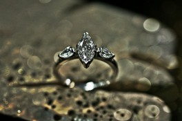 Marquise & Pear Drop Diamonds Set In Platinum