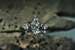 Marquise & Pear Drop Diamonds Set In Platinum